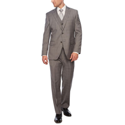Stafford Gray Windowpane Suit Separates