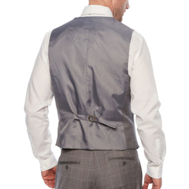 Stafford Grid Classic Fit Suit Vest