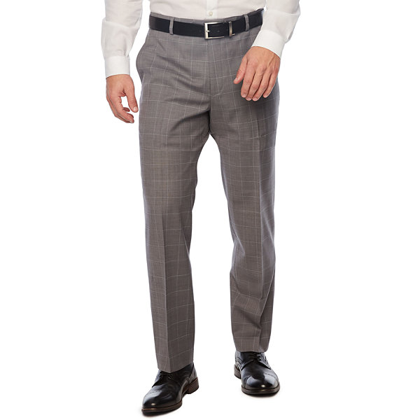 Stafford Grid Slim Fit Suit Pants
