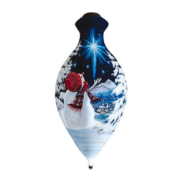 "Ne'Qwa Art  ""Upon A Midnight Clear""  ArtistDona Gelsinger  Brilliant-Shaped Glass Ornament  #7161104"