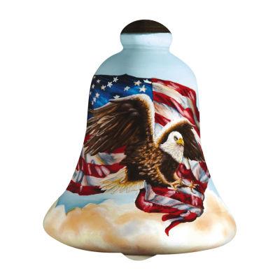 "Ne'Qwa Art  Patriotic Gifts  ""Liberty Eagle""Artist Dona Gelsinger  Bell-Shaped Glass Ornament#7161111"