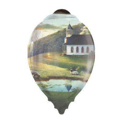 "Ne'Qwa Art  ""The Lord Is My Shepherd"" ArtistSandy Lynam Clough  Princess-Shaped Glass Ornament  #7161182"