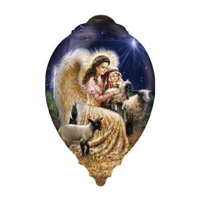 "Ne'Qwa Art  ""Gentle Shepherd""  Artist Dona Gelsinger  Princess-Shaped Glass Ornament  #7161107"
