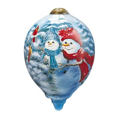 "PRECIOUS MOMENTS Ne'Qwa Art  ""A Mother's Love"" Artist Dona Gelsinger  Petite Princess-Shaped Glass Ornament#7161110"