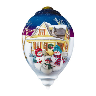 "Ne'Qwa Art  ""Family Togetherness"" Artist Eileen Rosenfeld  Princess-Shaped Glass Ornament  #7161189"