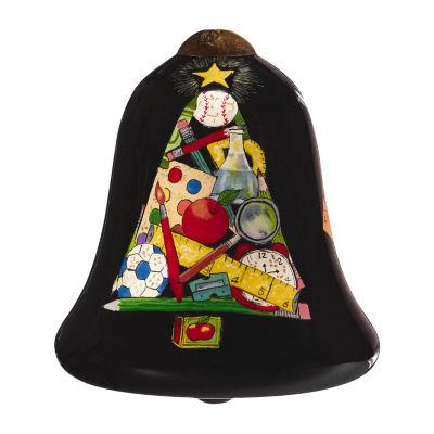 """Ne'Qwa Art  """"School Tree"""" Artist Susan Winget  Petite Bell-Shaped Glass Ornament  #7161136"""