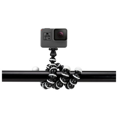 GPX TPD78B 7 in. Bendable Tripod with 10-Section Legs and Slip-Resistant Grips