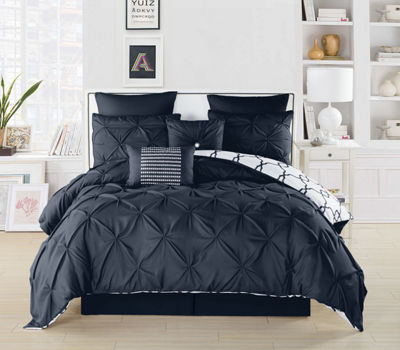 DUCK RIVER 8-pc. Esy Reversible Pintuck Comforter Set