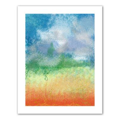 Brushstone Big Sky Calm Canvas Wall Art - Rocky Mountain