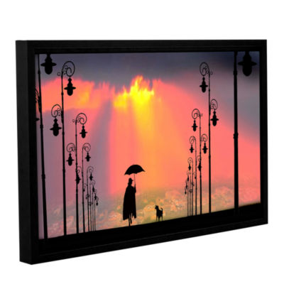 Brushstone Duet Gallery Wrapped Floater-Framed Canvas Wall Art