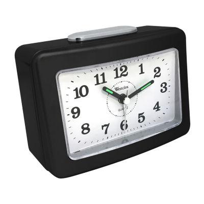 Westclox No Tick Loud Bell Analog Alarm Clock