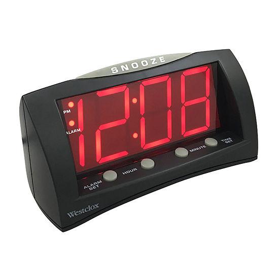 Wide LED Display Alarm Clock
