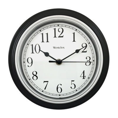 "Westclox 9"" Simplicity Clock with Bezel"""