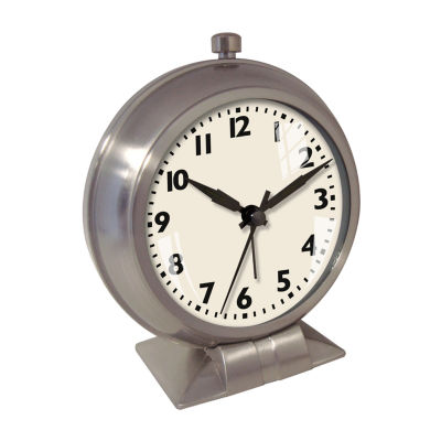 Big Ben Metal Case Bedside Alarm Clock with White Dial