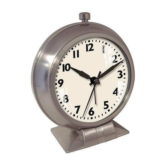 Big Ben Metal Case Bedside Alarm Clock with White Dial