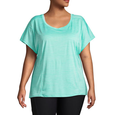 Xersion Short Sleeve Cut Out Back Active Tee - Plus
