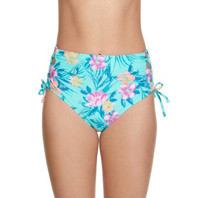 Arizona Floral High Waist Swimsuit Bottom-Juniors
