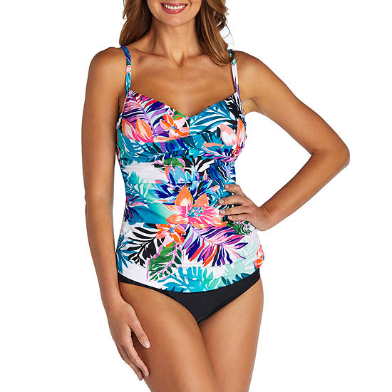St Johns Bay Floral Tankini Swimsuit Top Or Swimsuit Bottom