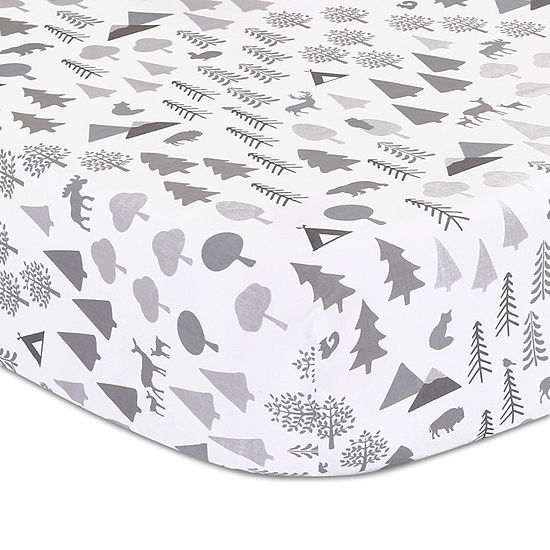 The Peanut Shell Forest Dream Crib Sheet
