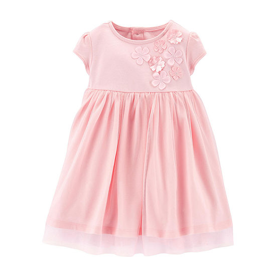 Carter's Short Sleeve Cap Sleeve Fit & Flare Dress - Baby Girls
