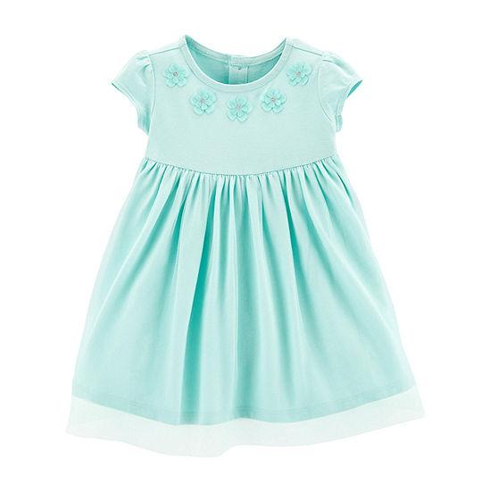 Carter's Girls Short Sleeve Cap Sleeve Fit & Flare Dress - Baby