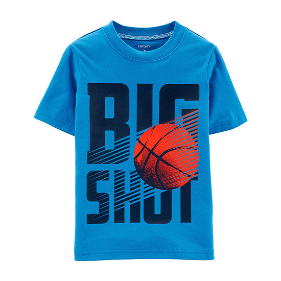 Carters Boys Round Neck Short Sleeve Graphic T Shirt Baby