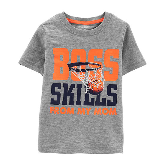 Carter's Boys Round Neck Short Sleeve Graphic T-Shirt Baby