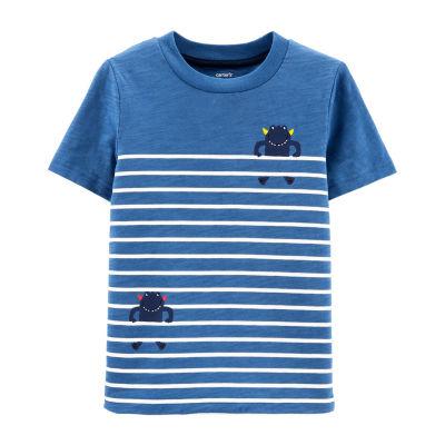 Carter's Boys Round Neck Short Sleeve Graphic T-Shirt