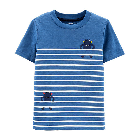 Carter's Boys Round Neck Short Sleeve Graphic T-Shirt - Baby