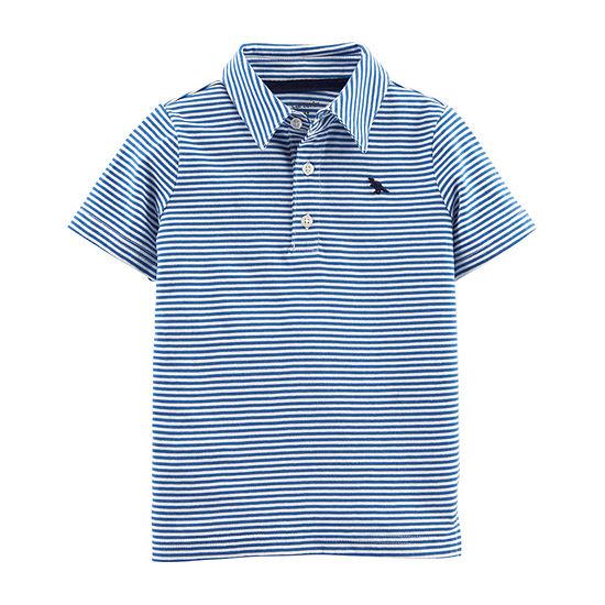 Carter's Boys Spread Collar Short Sleeve Polo Shirt - Baby