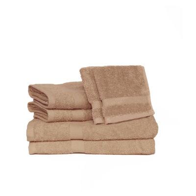 Deluxe 6-Piece Cotton Terry Bath Towel Set