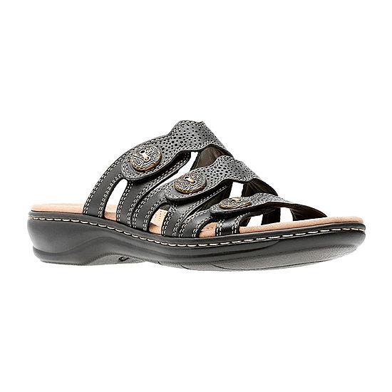 78ec7f627da Clarks Womens Leisa Grace Slide Sandals - JCPenney