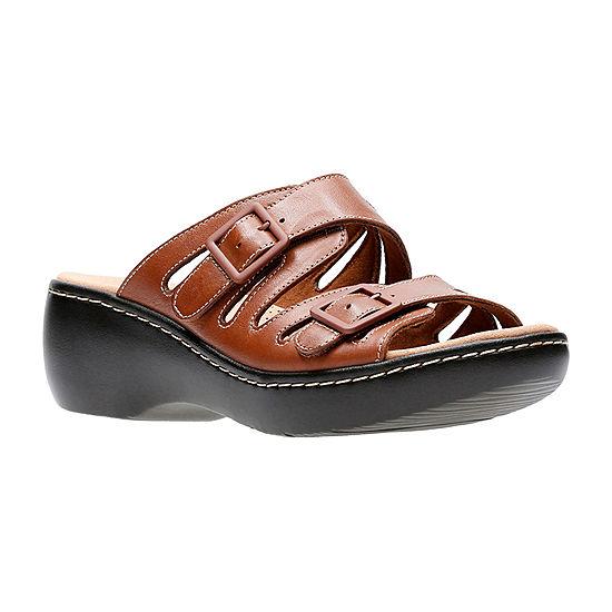 0d03e50bc4a7 Clarks Delana Liri Womens Slide Sandals JCPenney