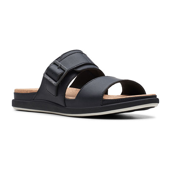 Clarks Womens Step June Tide Slide Sandals