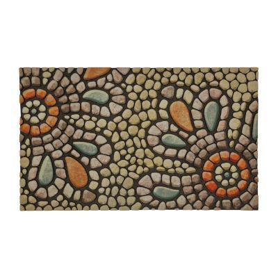 Mohawk Home Recycled Rubber Pebble Rectangular Outdoor Doormat