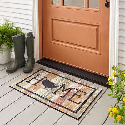 Mohawk Home Recycled Rubber Usa Rectangular Outdoor Doormat