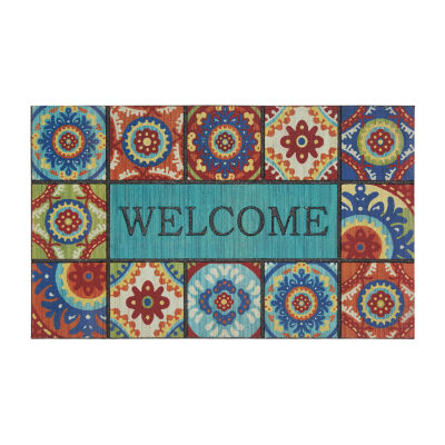 Mohawk Home Recycled Rubber Exotic Rectangular Outdoor Doormat