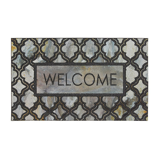 Mohawk Home Recycled Rubber Greystone Rectangular Outdoor Doormat