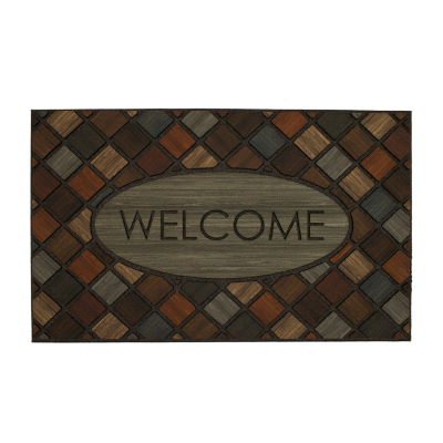Mohawk Home Recycled Rubber Marquetry Rectangular Outdoor Doormat