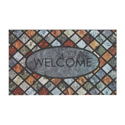 Mohawk Home Recycled Rubber Mineral Rectangular Outdoor Doormat
