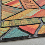 Mohawk Home Recycled Rubber Woodland Rectangular Outdoor Doormat
