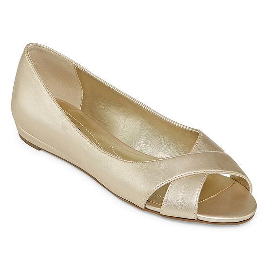 east 5th Womens Gardendale Peep Toe-Wide Width Slip-On Shoe