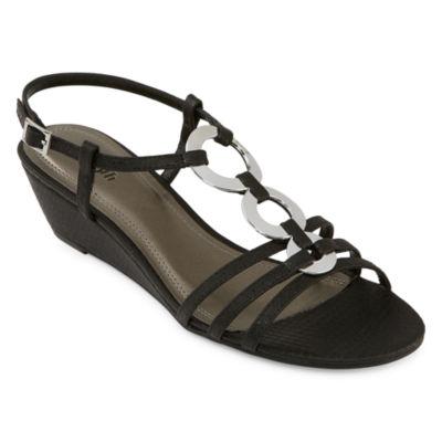 east 5th Womens Glyn Wedge Sandals