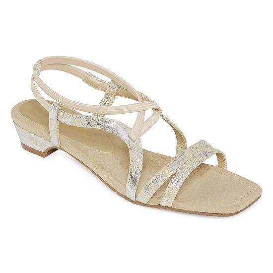 Ann Marino Womens Zest Helps Heeled Sandals