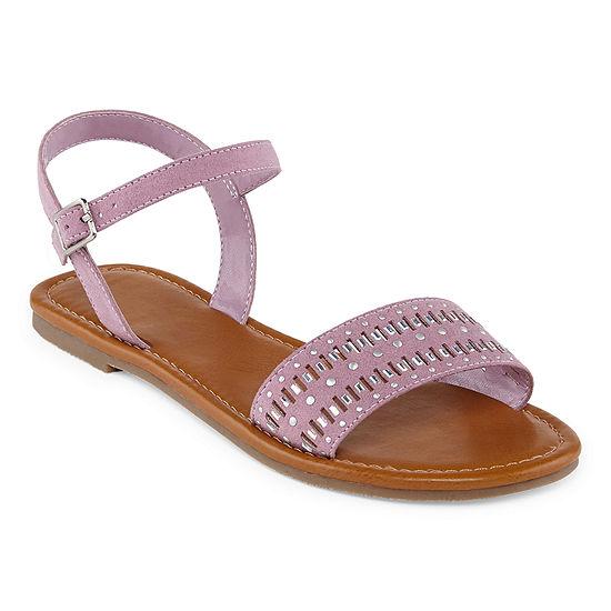 Arizona Womens Genna Adjustable Strap Flat Sandals