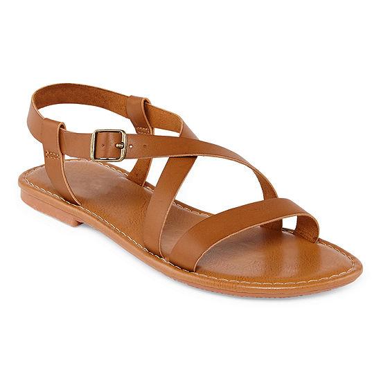 Arizona Womens Antigua Adjustable Strap Flat Sandals