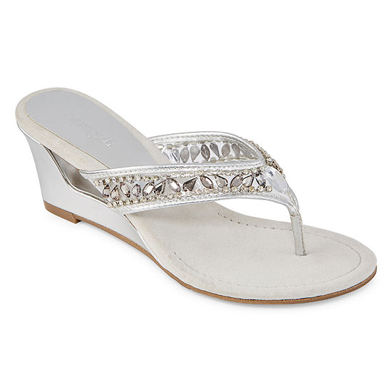 71c294c87416 east 5th Womens Fancy Wedge Sandals - JCPenney