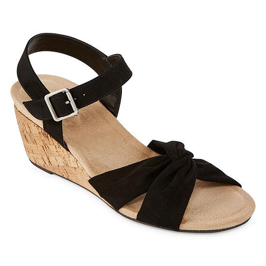 St. John's Bay Womens Pasadena Wedge Sandals