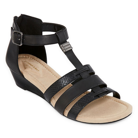 St. John's Bay Womens Nixon Wedge Sandals