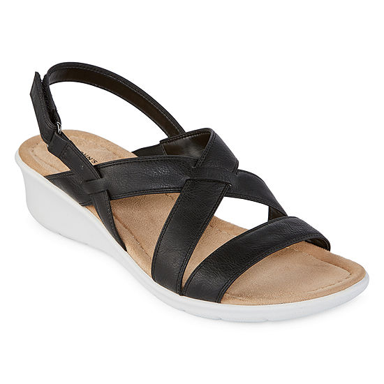 St. John's Bay Womens Benji Wedge Sandals